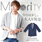 テーラードジャケット メンズ 7分袖 7分 テーラード ジャケット サマージャケット 薄手 夏 夏服 夏物 minority マイノリティ