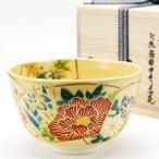 ショッピング梅 抹茶茶碗 地紙四季草花 通年物 茶道具