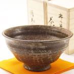 抹茶碗 柿の蔕写 木箱入り 通年物 土物 茶道具