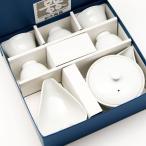 玉露用 宝瓶 湯冷まし 茶碗5個セット 白磁 茶器