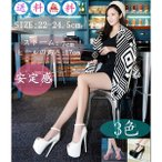 卸売可靴ハイヒールサンダルパンプスストラップヒール17cm厚底¥/ストーン付き¥/キャバサンダル¥/前厚]結婚式パーティー