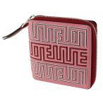 ロエベ LOEWE 折りたたみ財布 レディース 二つ折り財布ラウンドファスナー・ジップ 130.30.M88 ピンク×レッド系 財布・小物