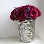 フラワーベース 花瓶 陶器 シルバーcolorモダンシックなフラワーベース 花器 花瓶 サイズLL