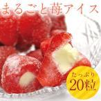 送料無料 まるごと苺アイス  20粒  練乳いちごアイス アイス イチゴ