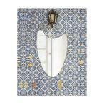ショッピング壁掛け 壁掛け鏡 壁掛けミラー ウォールミラー 姿見 姿見鏡 クリスタルミラー シリーズ(ウエーブ):スーパークリアーミラー(超透明鏡) クリスタルカットタイプ