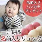 1歳の誕生日にも  一升餅 日本製 リュックとのセット 誕生餅 小分け 背負い餅 一升餅と名前入りリュック 名入れハンカチプレゼント