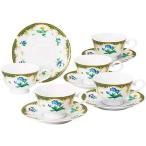 NARUMI(ナルミ)アンフィニ 5客碗皿セット/コーヒーカップソーサー5組セット