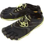 Vibram FiveFingers ビブラムファイブフィンガーズ メンズ V-Run Black/Yellow 5本指シューズ ベアフット 16M3101