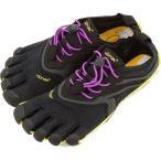 Vibram FiveFingers ビブラムファイブフィンガーズ レディース V-Run Black/Yellow/Purple 5本指シューズ ベアフット ウィメンズ  16W3105