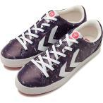 hummel ヒュンメル メンズ・レディース スニーカー 靴 DEUCE COURT PRINT デュースコート プリント PEACOAT ネイビー  HM201592-7666 SS18