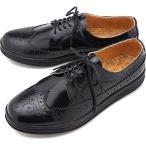 マネブ MANEBU ウィングチップ レザーシューズ UKI FACESKIN レザースニーカー メンズ 靴 BLACK  MNB-003B FW18