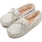 ショッピングemu emu エミュー オーストラリア スエードモカシンAMITY METALLIC アミティー メタリック レディース 靴 SILVER  W11438