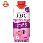 森永乳業 TBC Wヒアルロン酸+コラーゲン アップル&ピーチ(プリズマ容器) 330ml紙パック×12本入