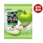 送料無料 オリヒロ ぷるんと蒟蒻ゼリー 青りんご 20gパウチ×6個×24袋入