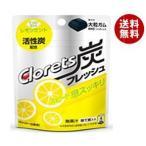 送料無料 モンデリーズ・ジャパン クロレッツ 炭フレッシュ レモンミントパウチ(粒ガム) 9粒×6袋入