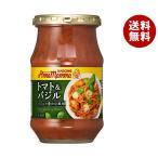 【送料無料】カゴメ アンナマンマ トマト&バジル 330g瓶×12本入