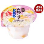 送料無料 たらみ 贅沢白桃マンゴー ミルク寒天 230g×24(6×4)個入