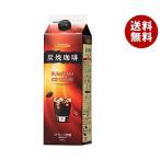【送料無料】ハマヤ 炭焼アイスコーヒー 低糖 1000ml紙パック×12本入