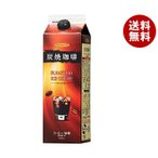 【送料無料】【2ケースセット】ハマヤ 炭焼アイスコーヒー 低糖 1000ml紙パック×12本入×(2ケース)