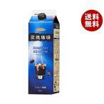 【送料無料】【2ケースセット】ハマヤ 炭焼アイスコーヒー 無糖 1000ml紙パック×12本入×(2ケース)