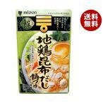 送料無料 ミツカン 〆まで美味しい 地鶏昆布だし鍋つゆ ストレート 750g×12袋入