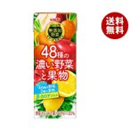 送料無料 キリン 無添加野菜 48種の濃い野菜と果物 200ml紙パック×24本入