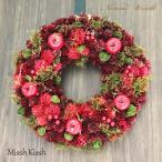 クリスマスリース 35cm 赤 りんご 松ぼっくり Red Apple Pinecone Wreath Mサイズ クリスマス Xmas Christmas