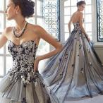 カラードレス 黒 演奏会 安い ロングドレス コンサート パーティードレス 発表会 ウェディングカラードレス 二次会 結婚式 ステージ衣装 大きいサイズ