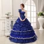 ショッピングカラー ロングドレス カラードレス ウエディングドレス コンサート 安い 演奏会 プリンセスライン ステージ衣装 パーティー ウェディングドレス 結婚式