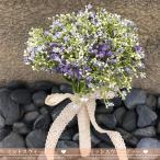 ウエディングブーケ 花嫁 ブーケ かすみ草 手作り ブライダルブーケ 造花 安い 結婚式 二次会 ブートニア