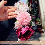 ショッピングウェディング ウェディング 花嫁 安い 手作り ヘアアクセサリー 髪飾り キッズ用 カチューシャ 結婚式 造花 子供 フラワーガール ティアラ