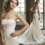 Yahoo!ミットスウィーティーマーメイドドレス ウエディングドレス 安い ロングドレス 結婚式 白 花嫁 ブライダル 披露宴 ウェディングドレス マーメイドライン 二次会 イブニングドレス