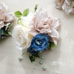 Yahoo!花とブーケのアトリエ美鈴ヤフー店コサージュ 入園入学式 卒園卒業式 ダリア バラ ブライダル フォーマルスーツ ヘッドドレス(2-corsage060 )