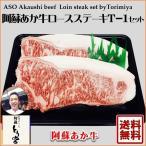 道の駅阿蘇のギフトセット 赤牛ロースステーキセット(200g×2)T-1/阿蘇とり宮