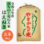 米 はえぬき 雪むろ米 30kg 山形県産 玄米 令和2年産 送料無料 はえぬき玄米
