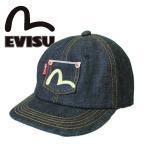 EVISU エヴィス キャップ CAP  デニム カモメ  ポケット 限定生産 レディース 女性用 男女兼用 父の日 プレゼント バレンタイン 記念日 ギフト