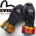 EVISU エヴィス ゴルフ ヘッドカバー デニム カモメ 刺繍 ロゴ 人気 ブランド ゴルフアイテム ゴルフグッズ GRD-0040TW GRD0040TW