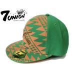 7UNION セブンユニオン CAP ネイティブ柄 オレンジ×グリーン 猟銃 刺繍