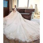 ロングドレス結婚式大きいサイズパーティードレス20代30代40代パーティドレスワンピース二次会ドレスウェディングドレスお呼ばれドレス[ホワイト]