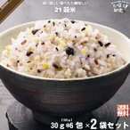「お手軽 2個セット」 二十一穀米 スティック (30g×6包) 雑穀 雑穀米 21穀
