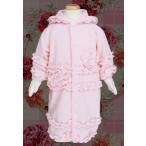 カバーオール ベビー 子供服 R.P.Company アールピーカンパニー ピンク フード 花飾り フリル 起毛 フリース RP17282
