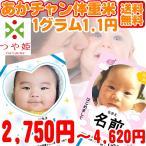 内祝い・出産祝い・名入れ可・ギフト あかちゃん 体重米 選べる山形県産米 つや姫