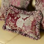 美しい生地 ♪ ジャカード織り花型の枕カバーピンク系