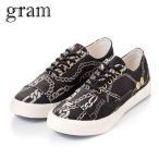 グラム GRAM メンズ シューズ スニーカー 352G black chain cotton twill G-352-3