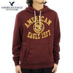 アメリカンイーグル AMERICAN EAGLE 正規品 メンズ パーカー HOODED POP OVER 1515-9034 BURGUNDY