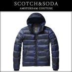 スコッチアンドソーダ SCOTCH&SODA 正規販売店 メンズ アウタージャケット Quilted nylon jacket with oxford nylon hood 10015 B