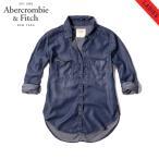 アバクロ レディース Abercrombie&Fitch 正規品 シャツ DARK WASH DENIM SHIRT 140-412-1582-376