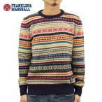 フランクリンマーシャル FRANKLIN&MARSHALL 正規販売店 メンズ セーター FAIR LSLE SWEATER NAVY KNMAL045AN 6023