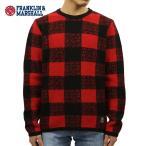 フランクリンマーシャル FRANKLIN&MARSHALL 正規販売店 メンズ セーター BUFFALO CHECK SWEATER CARDINAL MOUNTAIN KNMAL049AN 6025