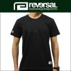 予約商品 4月頃入荷予定 リバーサル REVERSAL 正規販売店 メンズ 半袖Tシャツ rvddw EMB COTTON TEE rv17ss002 BLACK